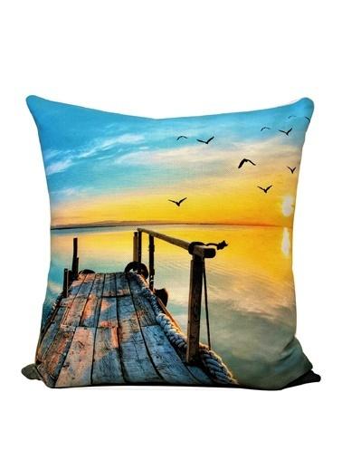 Alla Turca Dekoratif Kırlent Kılıfı-Sunset Renkli